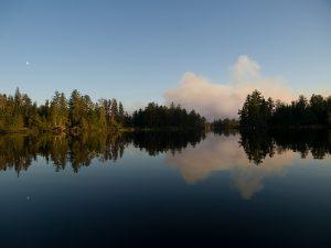 Pagami Creek Fire at dawn