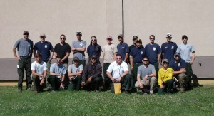 MNICS Crew #4 firefighters gathered at the Minnesota Interagency Fire Center on July 26 on their way to Idaho.