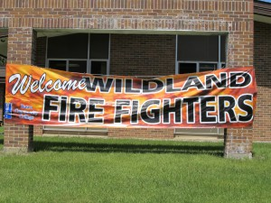 Fire Academy Welcome Sign
