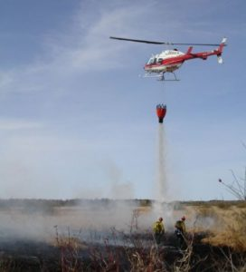 Berry Farm Fire helicopter drop