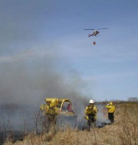 Helicopter bucket work