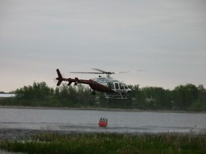 MN State Patrol helicopter dipping water