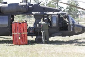 National Guard Blackhawk with bucket
