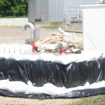 Sandbags protect Aitkin water, sewer plant, 2012