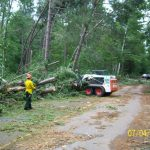 Crews work to clear roads in the Chippewa National Forest following the July 2012 blowdown