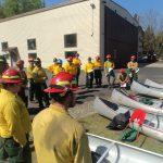 BWCA fire crew canoe training