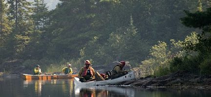 Pagami Creek firefighters paddling