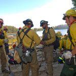 Firefighters preparing onshore