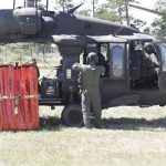 National Guard Blackhawk with bucket